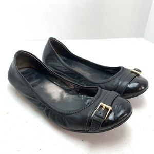 COLE HAAN NIKE AIR Black Leather Flats Shoes sz 7